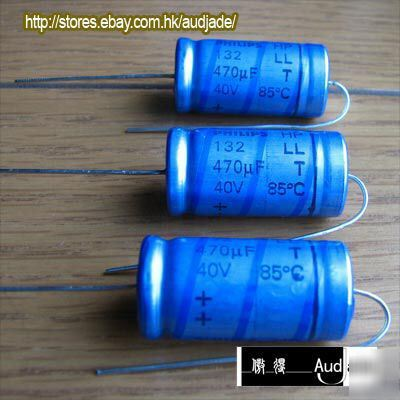 35pcs 470uf 40v Philips 132 Ll Axial Capacitors