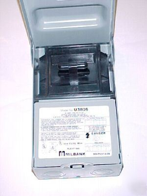 Case 6 Milbank Ac Pull Out Disconnect Switch U3806 60a