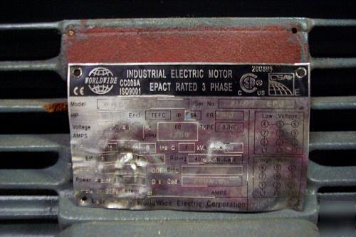 5 hp worldwide electric motor for Electric motors of iowa city