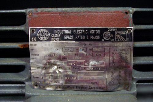 5 Hp Worldwide Electric Motor