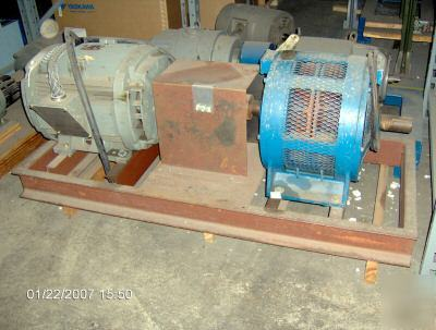Ge triclad 40 hp ac motor with current brake for Ge commercial motors 5kcp39fg