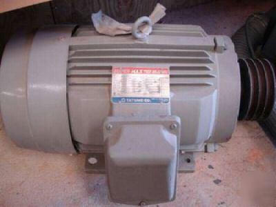 Tatung Motor 20 Hp 3 60 230 460v 49 24 5 Amp 1760 Rpm