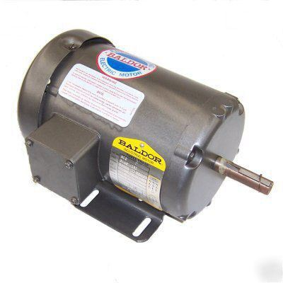 New baldor 1 2hp 3450rpm motor 3phase 208 230 460vac for 1 2 hp motor