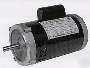 New electric jet pump motor 1 2 hp 56j frame tefc for Electric motors of iowa city