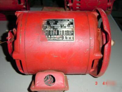 Bell gossett 1 hp electric motor m98551 rebuilt for Electric motors of iowa city